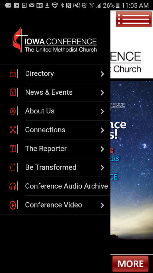 IA United Methodist Conference- screenshot