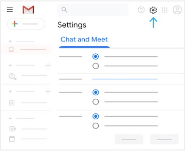 Open Chat and Meet settings