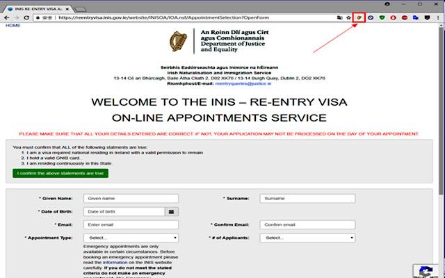 INIS REENTRY VISA