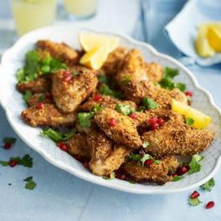 Dukkah-spiced BBQ chicken wings.