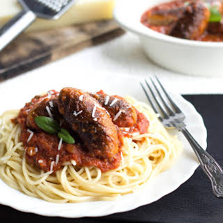 Spaghetti and Sausage Ragu Sauce.