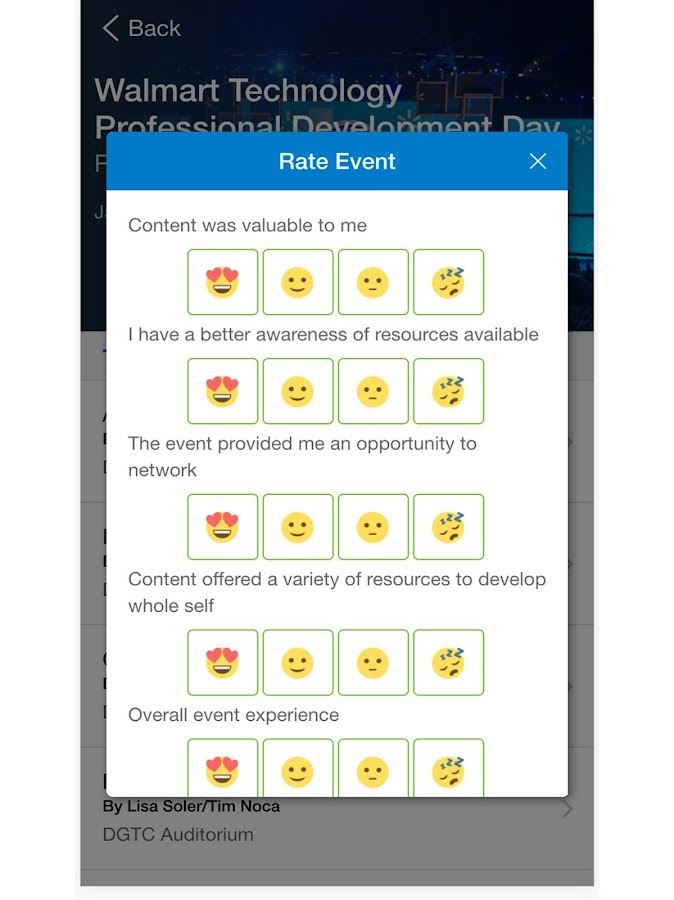 Walmart Tech Events- screenshot