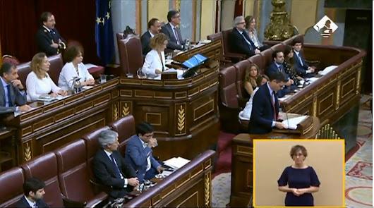 Pedro Sánchez abre el discurso de investidura.