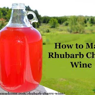 Rhubarb Cherry Wine