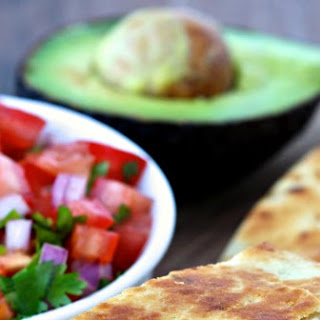Chicken and Green Chile Naan Quesadillas