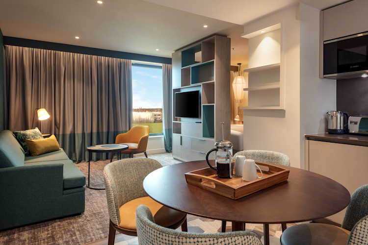 Living room at Staybridge Suite Heathrow Bath Road