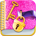 Secret Diary with a lock: Notepad for girls icon