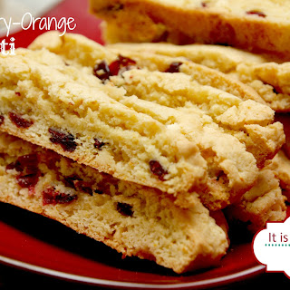 Cranberry Orange White Chocolate Biscotti