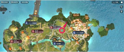 エルーナの花畑地図