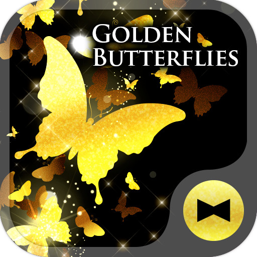 Golden Butterflies Wallpaper Icon