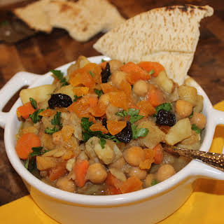 Moroccan Chickpea and Root Vegetable Stew.
