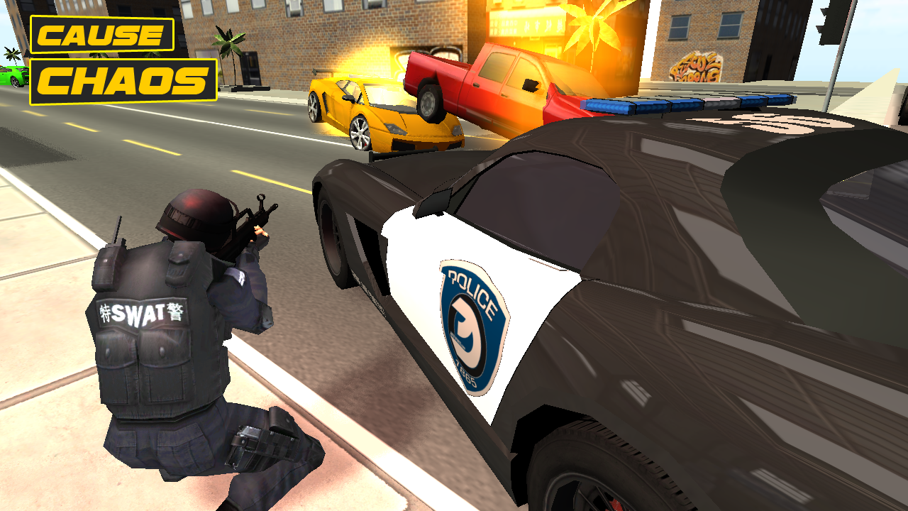 Police Car Chase 3D- screenshot