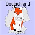 Topographie Deutschland MapApp icon