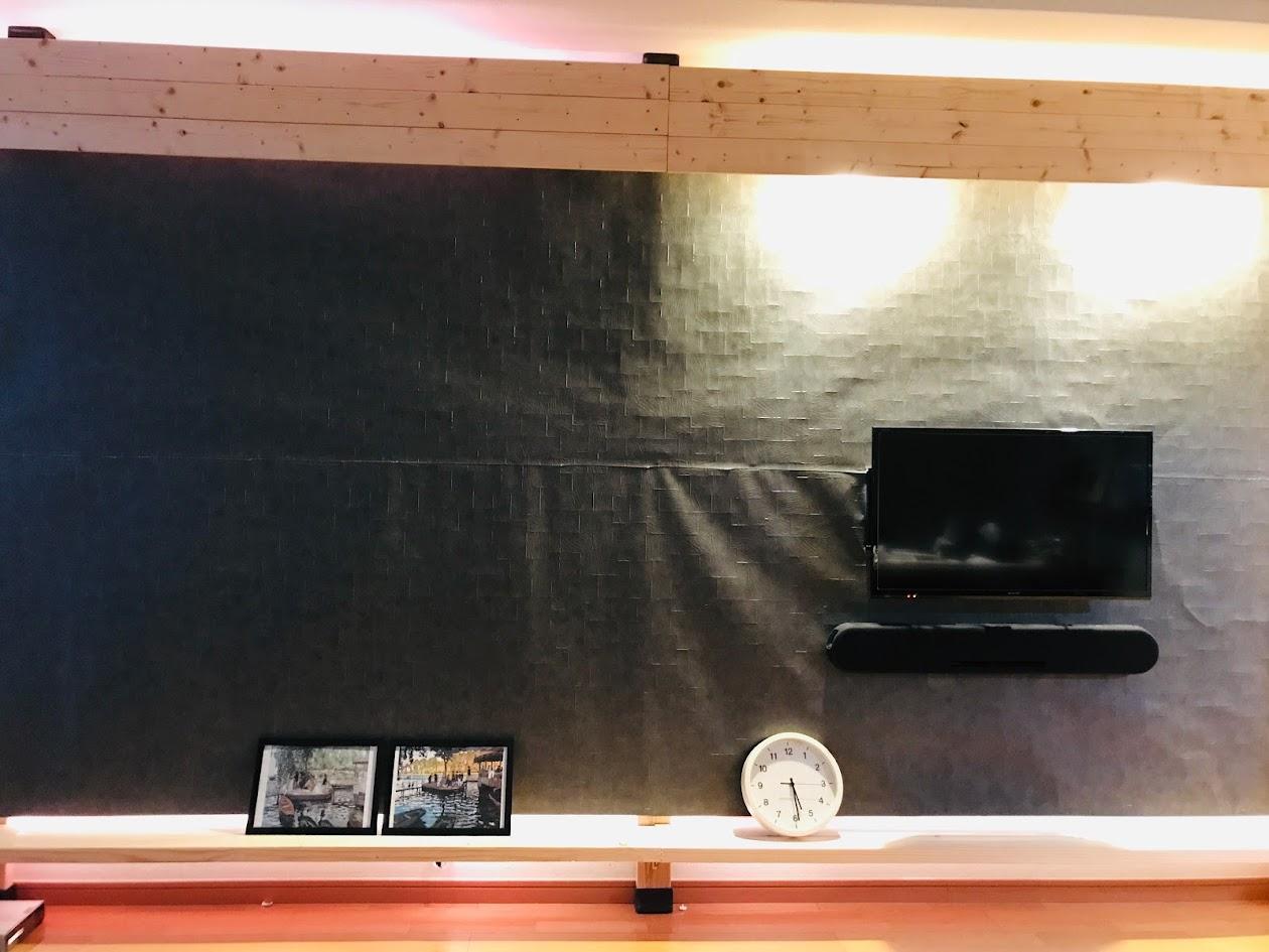 ディアウォールで壁掛けテレビボードをdiy 五等兵diy Com