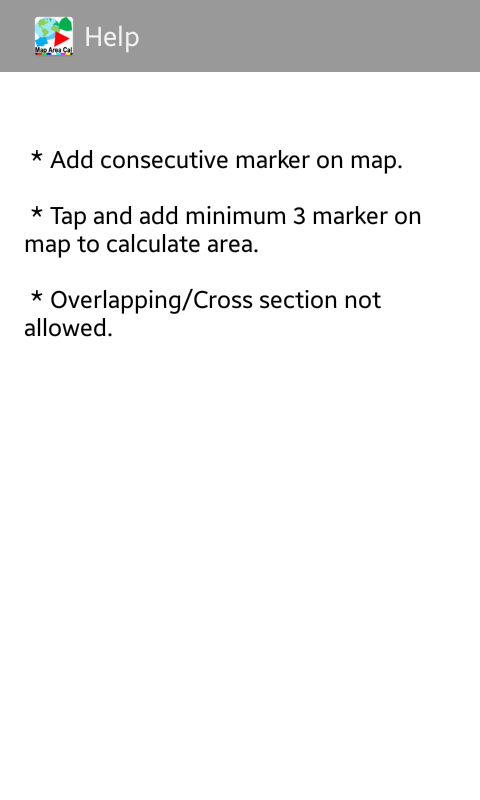 Map Area Calculator on the Go!- screenshot