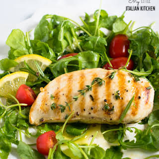 Light Grilled Lemon Chicken Breasts For A Tasty Midweek Meal.