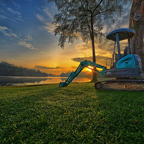 Excavator @ Rest  by Kafoor Sammil - Products & Objects Industrial Objects ( excavator, machine )