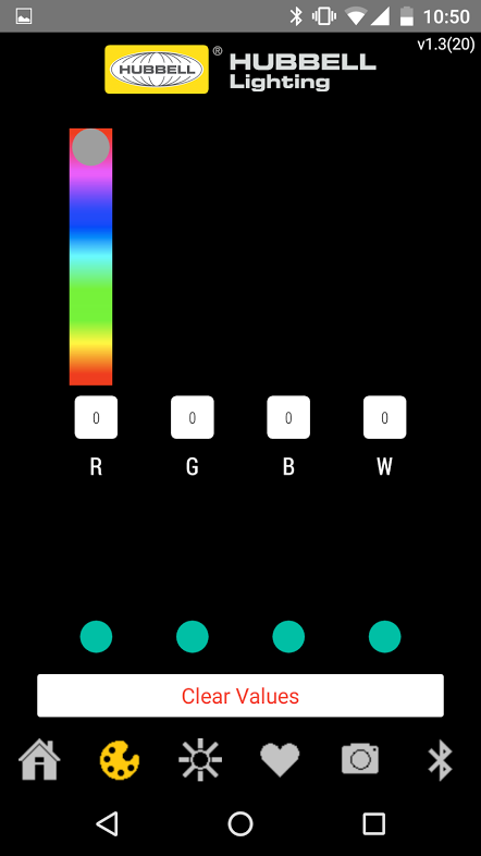 Hubbell RGBW BT Remote- screenshot