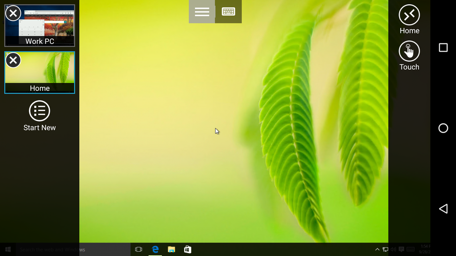 Microsoft Remote Desktop: screenshot