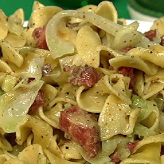Corned Beef and Noodles with Cabbage.