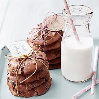 Chocolate Volcano Cookies.
