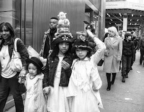 Photo: Easter bonnet Fifth Avenue, New York City 2013 www.leannestaples.com #newyorkcityphotography  #blackandwhitephotography  #streetphotography  #monochromemonday +Arnold Goodwayfor #streetpics  #shootthestreet  #ricohgxr