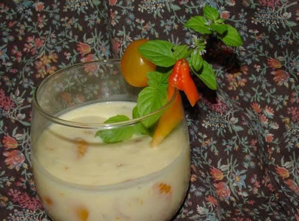 Pam's Creamy Orange Gazpacho