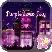 Cute Theme-Purple Love City-