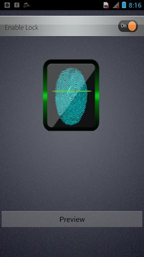 ThumbScanner Screen lock prank