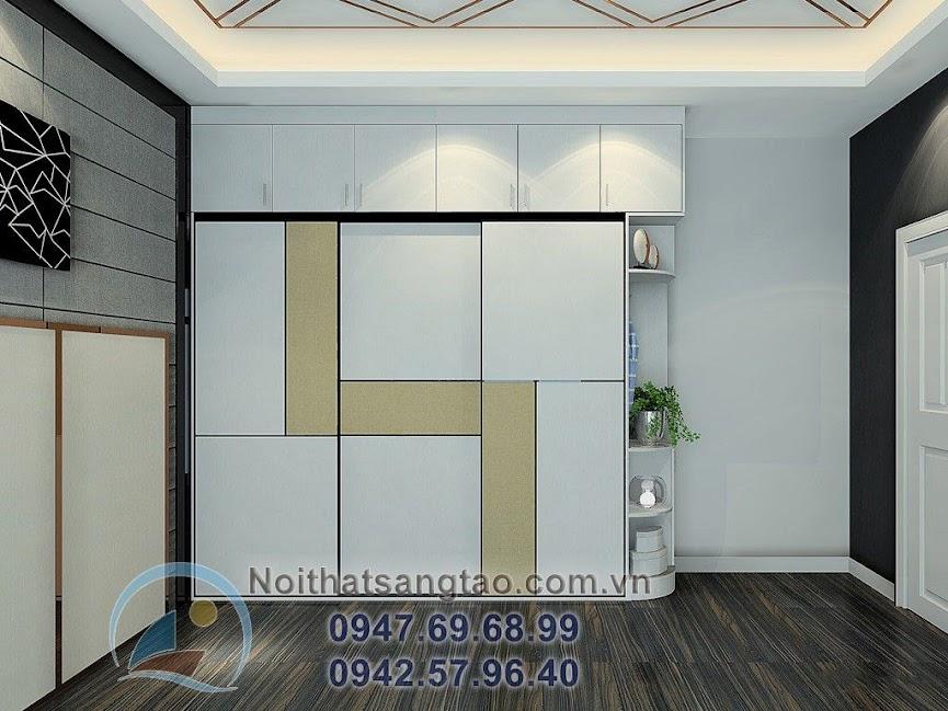 thiết kế phòng ngủ nam tính