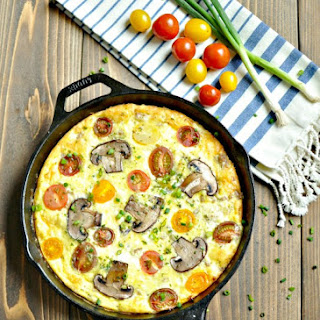 Sausage, White Cheddar and Heirloom Tomato Frittata – Low Carb, Gluten Free.