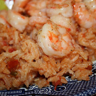 Southern Red Rice with Shrimp and Bacon.