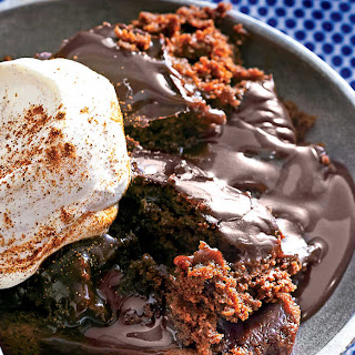 Chocolate Lava Cake with Cinnamon Whipped Cream.