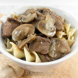 Golden Mushroom Beef Stew.