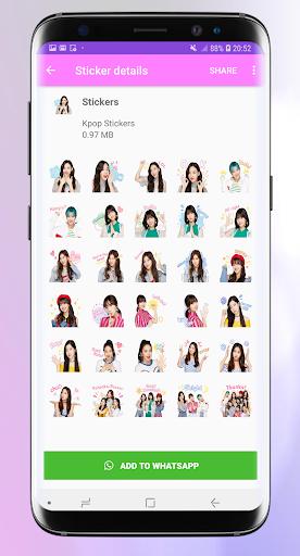 Stickers for whatsapp kpop - WAStickerApps Pro 1.3 screenshots 5