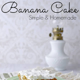 Simple Banana Cake.