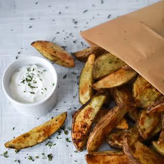 Crispy Seasoned Potato Wedges.