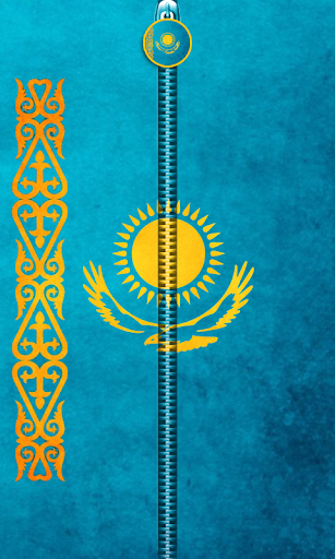 Kazakhstan Flag Zipper UnLock