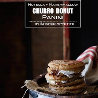 Nutella and Marshmallow Churro Donut Panini.