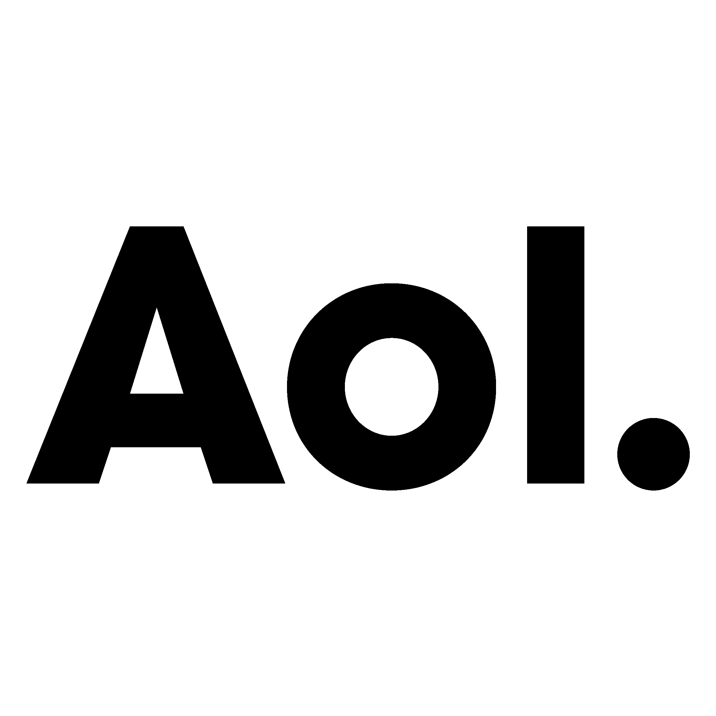 AOL Logo Black