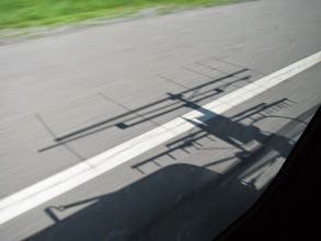 Photo: K8GP / Rover - Microwave antenna shadow and 6L 144