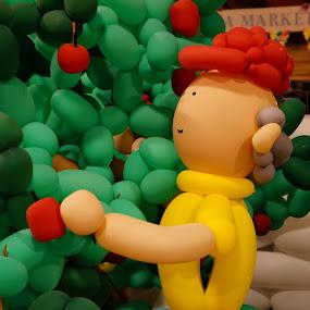 Apple Picker by Joe Spandrusyszyn - Artistic Objects Other Objects ( tree, air sculpture, apple, apple picking, balloon )