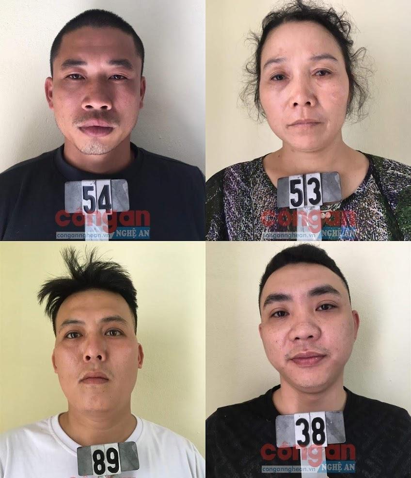 Một số đối tượng bị bắt giữ