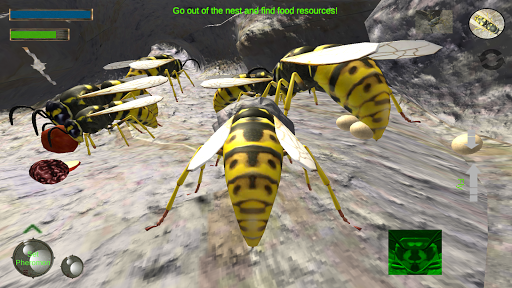 Wasp Nest Simulator - Insect and 3d animal game fond d'écran 2