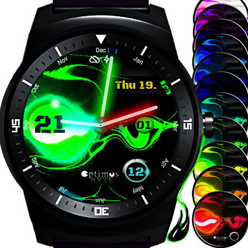 Laserslime animated watch face app for Android