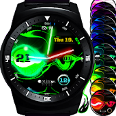 Watch Face Laserslime - Star Wars lightsaber style