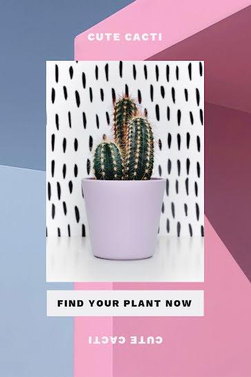 Cute Cacti - Pinterest Pin template
