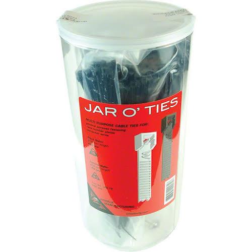 Wheels MFG Zip Ties: Black 600 pieces with Jar