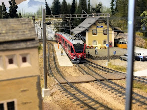 Photo: 011 One of the two stations featured in John Laister's HOm Bergellerbahn .