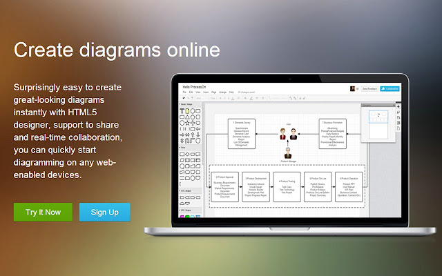 Processon diagram online chrome web store free to createcollaborate on bpmn flowchart mockupumlother diagrams with diagram library social network inline for business ccuart Gallery